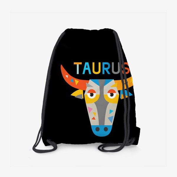 Рюкзак «Taurus. Знак зодиака Телец. Черный»