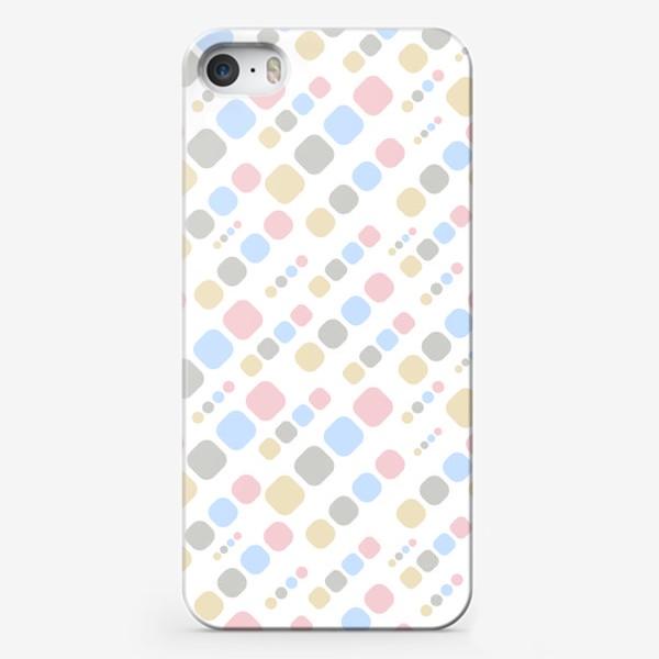 Чехол iPhone «Геометрик паттерн цветной на белом »