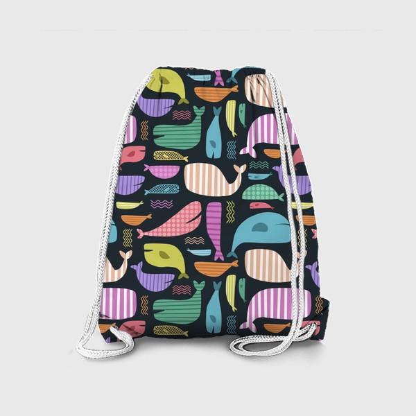 Рюкзак «Киты абстракция 2»