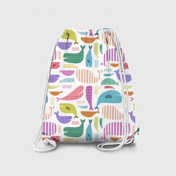 Рюкзак «Киты абстракция»