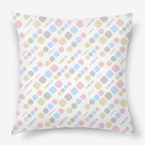Подушка «Геометрик паттерн цветной на белом »