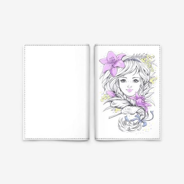 Обложка для паспорта «Лилии. Графика»
