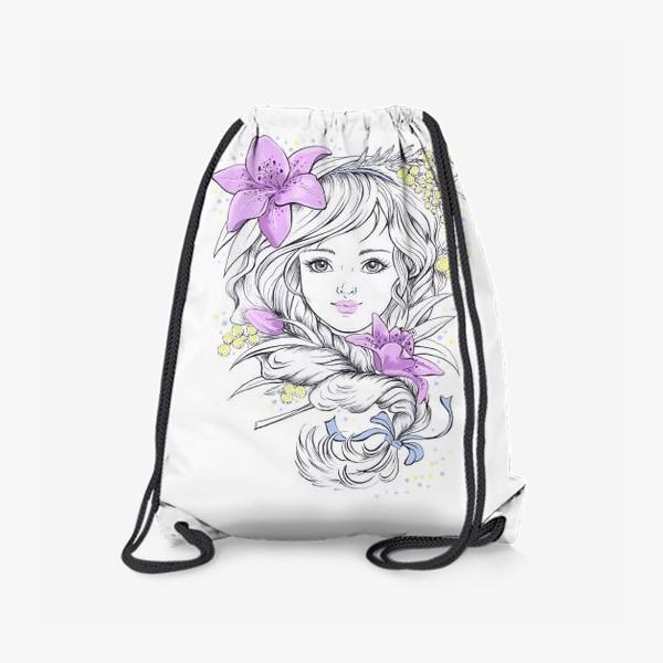 Рюкзак «Лилии. Графика»