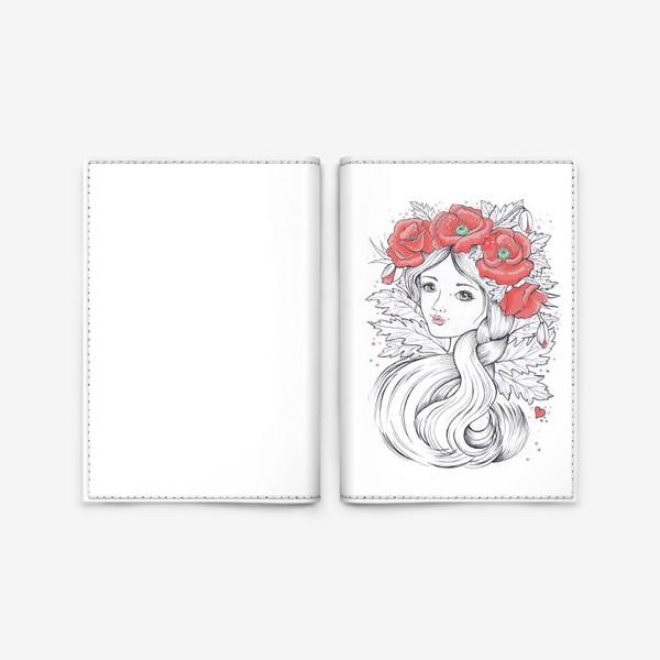 Обложка для паспорта «Маки. Графика»
