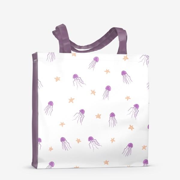 Сумка-шоппер «Медузы и морские звезды»