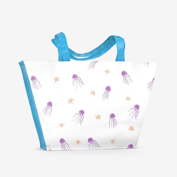 Пляжная сумка «Медузы и морские звезды»
