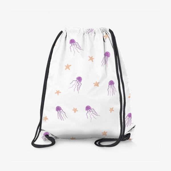 Рюкзак «Медузы и морские звезды»
