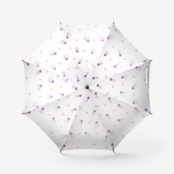 Зонт «Медузы и морские звезды»