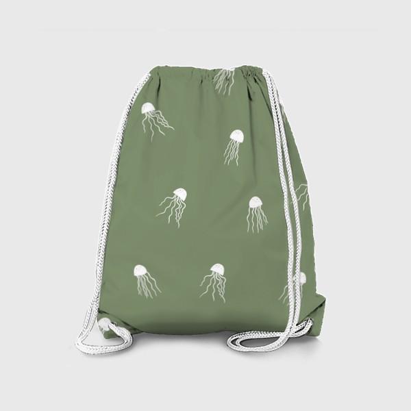 Рюкзак «Медузы на зеленом»