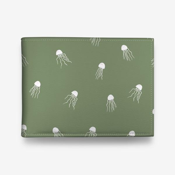 Кошелек «Медузы на зеленом»