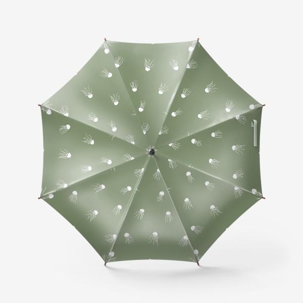 Зонт «Медузы на зеленом»