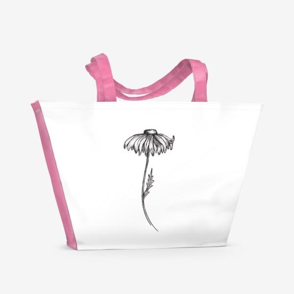 Пляжная сумка «Ромашки.»