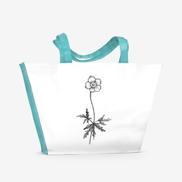 Пляжная сумка «Лютики цветочки...»
