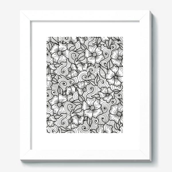Картина «Цветы (зеатлинг)»