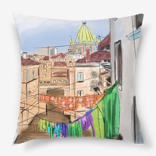 Подушка «Улица Севастополя»