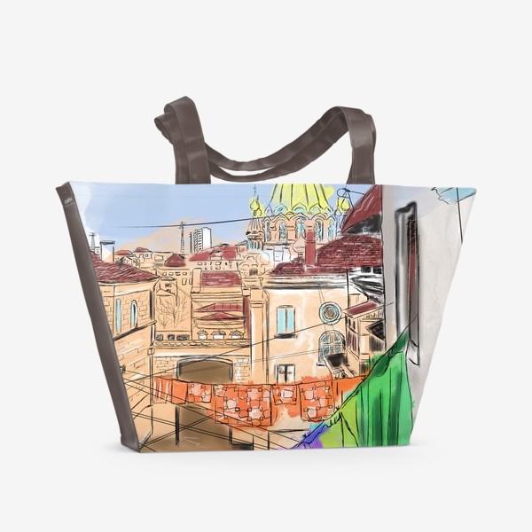 Пляжная сумка «Улица Севастополя»