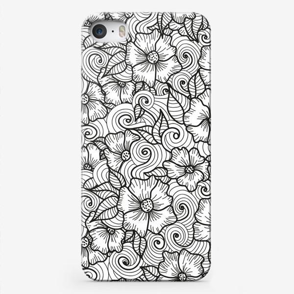 Чехол iPhone «Цветы (зеатлинг)»