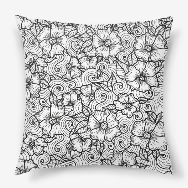 Подушка «Цветы (зеатлинг)»