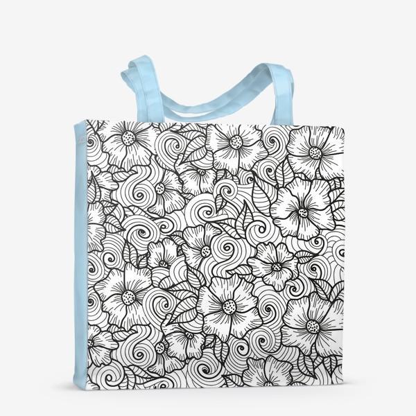 Сумка-шоппер «Цветы (зеатлинг)»