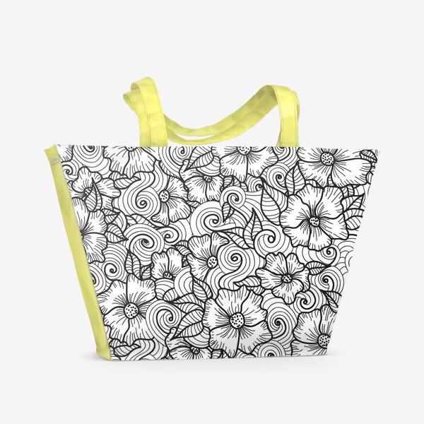 Пляжная сумка «Цветы (зеатлинг)»