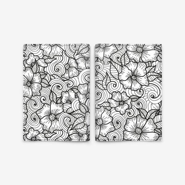 Обложка для паспорта «Цветы (зеатлинг)»