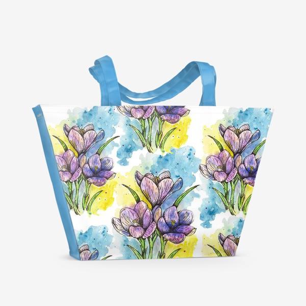 Пляжная сумка «Крокусы»