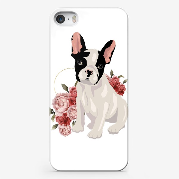 Чехол iPhone «Собака французский бульдог»