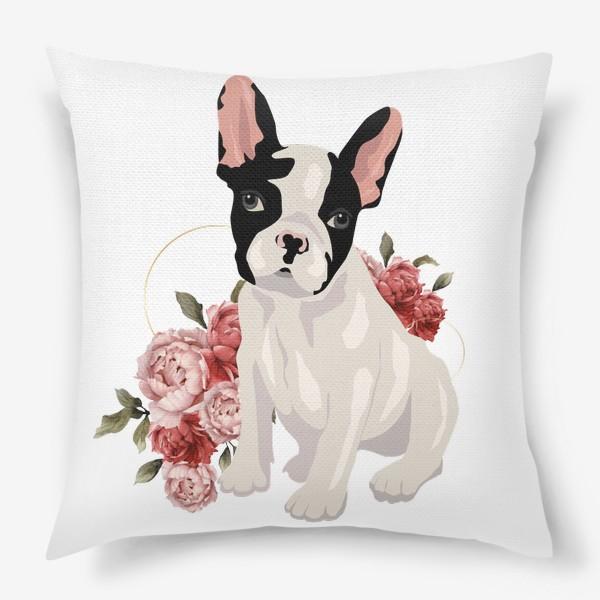 Подушка «Собака французский бульдог»
