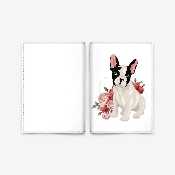 Обложка для паспорта «Собака французский бульдог»