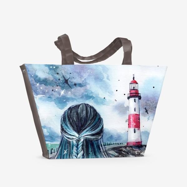Пляжная сумка «русалочка»