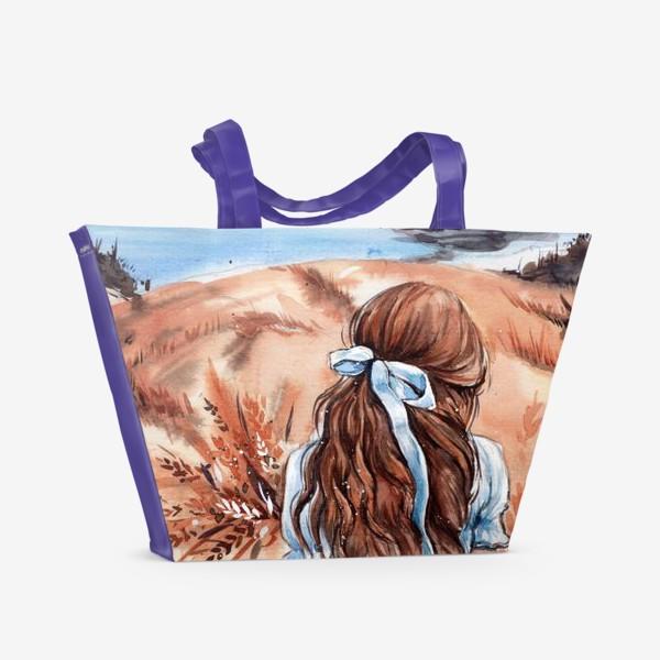 Пляжная сумка «не своди глаз с горизонта»
