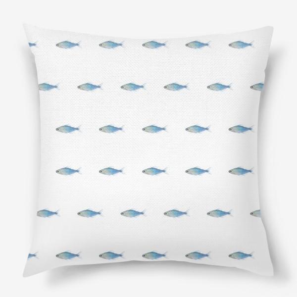 Подушка «Голубые рыбки»