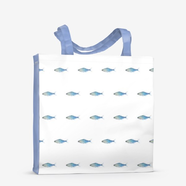 Сумка-шоппер «Голубые рыбки»