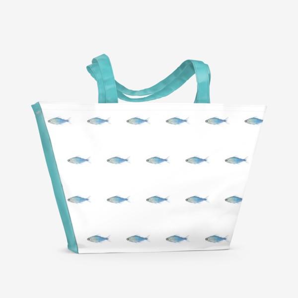 Пляжная сумка «Голубые рыбки»
