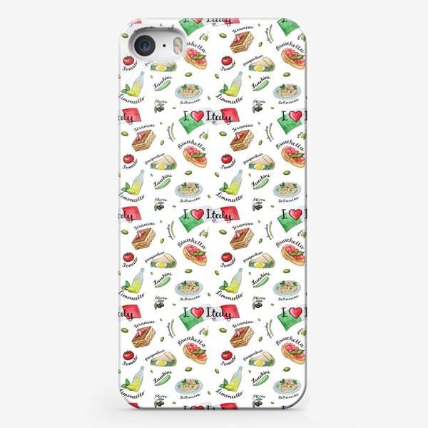 Чехол iPhone «Паттерн «Вкус Италии»»