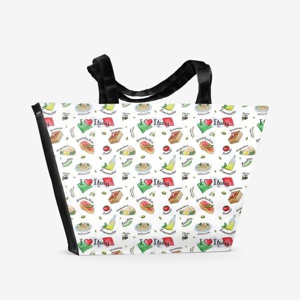 Пляжная сумка «Паттерн «Вкус Италии»»