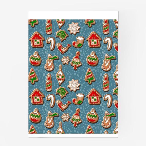 Постер «Дух Рождества. Рождество. Рождественское печенье. »