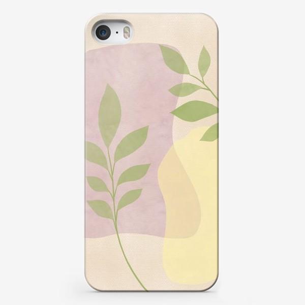 Чехол iPhone «Абстракция №2 с листочками»
