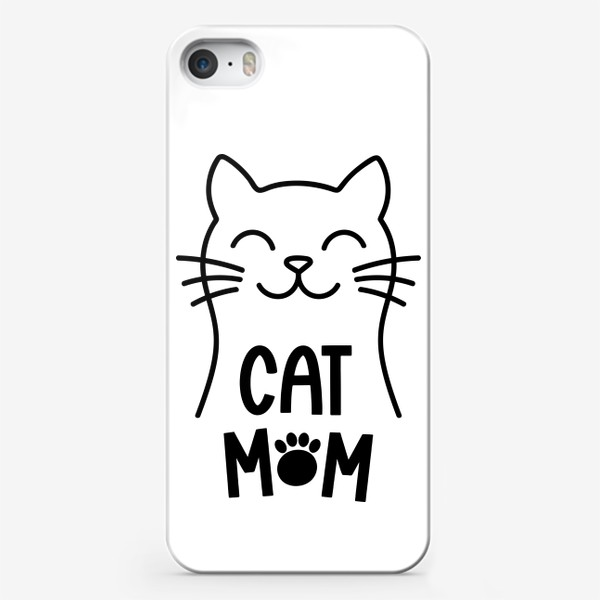 Чехол iPhone «Cat Mom. Котик»