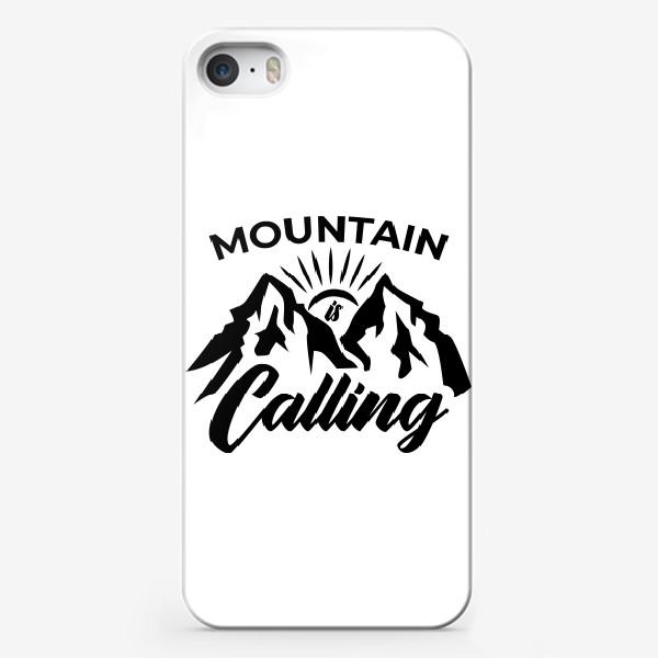 Чехол iPhone «Горы зовут. Mountain is calling»