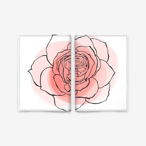 Обложка для паспорта «пионовидная роза»