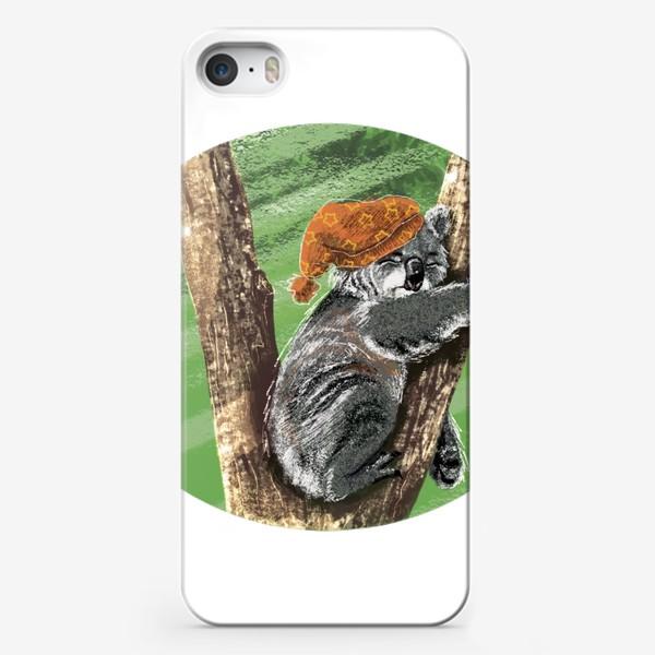 Чехол iPhone «Коала и ночной колпак»
