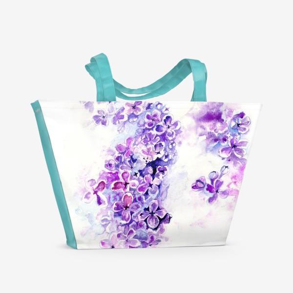 Пляжная сумка «Ода сирени»