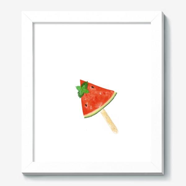 Картина «Долька арбуза на палочке с мятой»