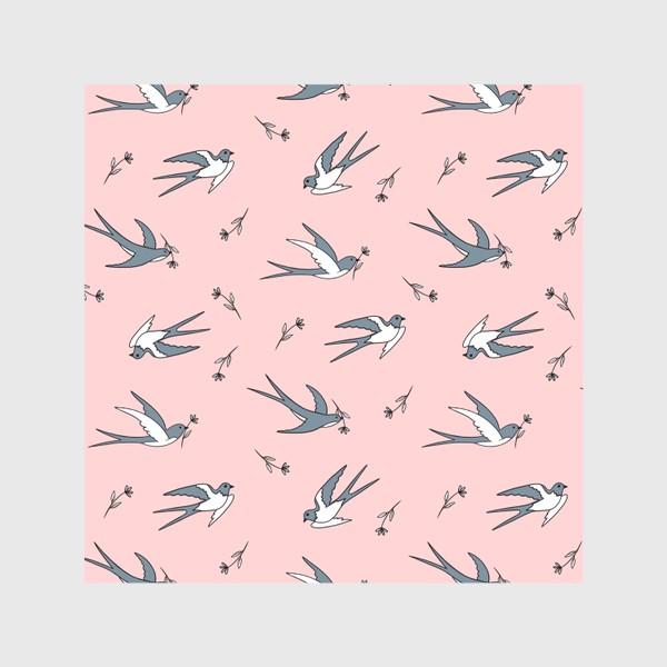 Скатерть «Ласточки на розовом»