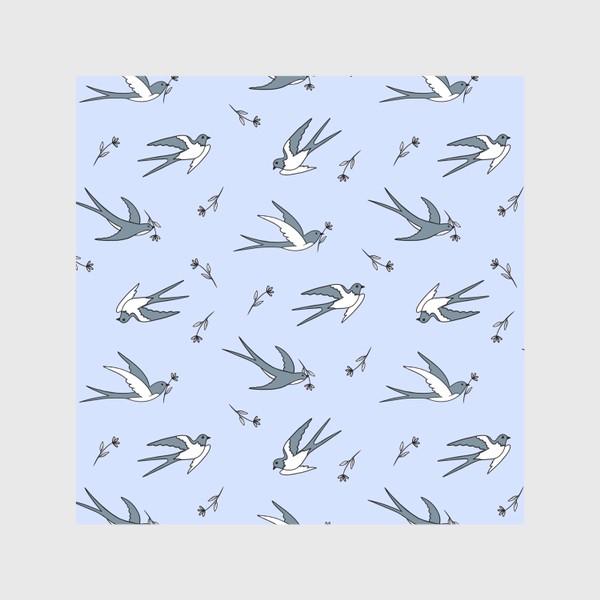 Скатерть «Ласточки на голубом»