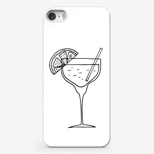 Чехол iPhone «летний коктейль. напиток в бокале. бар»