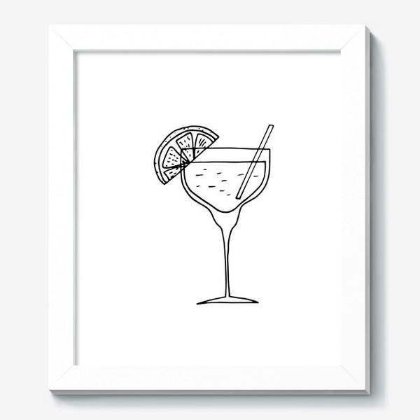Картина «летний коктейль. напиток в бокале. бар»