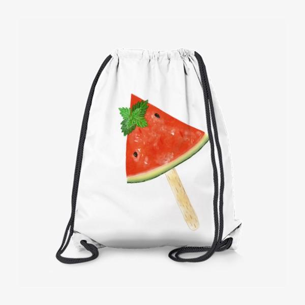 Рюкзак «Долька арбуза на палочке с мятой»