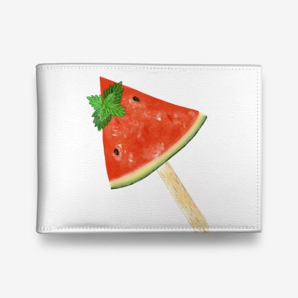 Кошелек «Долька арбуза на палочке с мятой»